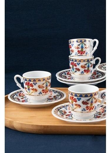 Güral Porselen Güral Porselen Sedef Kahve Fincan Takımı 6 Kişilik SF12CKT084556 Renkli